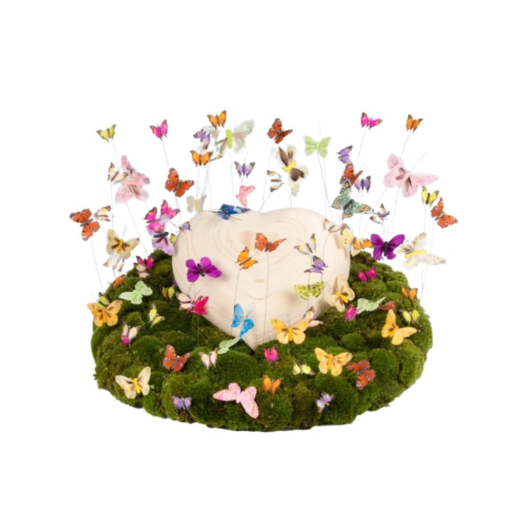 baby rouwbloemen vlinderhemel
